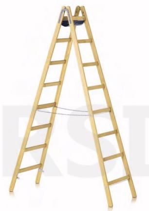 Holzsprossenstehleiter